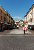 Bardolino attractive old town on the Veronese shore of Lake Garda. Its downtown is lined with shops, bars, restaurants and pizzerias Stock Photos