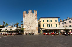 Bardolino attractive old town on the Veronese shore of Lake Garda. Its downtown is lined with shops, bars, restaurants and pizzerias Stock Image
