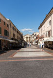 Bardolino attractive old town on the Veronese shore of Lake Garda. Its downtown is lined with shops, bars, restaurants and pizzerias Royalty Free Stock Photo
