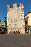 Bardolino attractive old town on the Veronese shore of Lake Garda. Its downtown is lined with shops, bars, restaurants and pizzerias Stock Photography