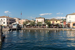 Bardolino attractive old town on the Veronese shore of Lake Garda. Its downtown is lined with shops, bars, restaurants and pizzerias Stock Photo