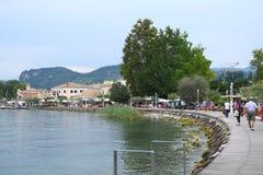 Bardolino Garda lake. Bardoline boardwalk at the Garda lake in italy Royalty Free Stock Photography