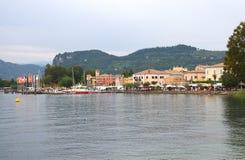 Bardolino Garda lake. Bardoline boardwalk at the Garda lake in italy Stock Images
