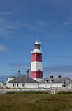 Bardsey Island Lighthouse. A small Isla off the end of the lLyn Peninsula North Wales UK stock photography
