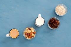 Bardzo łatwy, lekki i zdrowotny śniadanie dla zdrowego styl życia, obrazy royalty free