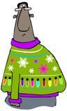 Bardzo brzydki Bożenarodzeniowy pulower royalty ilustracja