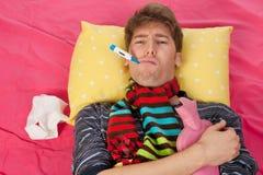 Bardzo chory mężczyzna Fotografia Stock