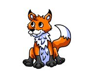 Bardzo Ciekawy Fox royalty ilustracja