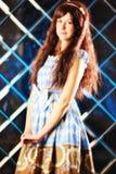 Bardzo delikatna piękna dziewczyna w stylu anime Obraz Stock