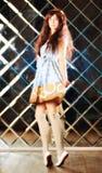 Bardzo delikatna piękna dziewczyna w stylu anime Obrazy Royalty Free