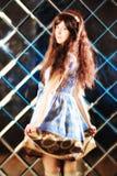 Bardzo delikatna piękna dziewczyna w stylu anime Fotografia Royalty Free