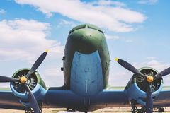 Bardzo Duży Stary samolot Z śmigłami Zdjęcia Stock