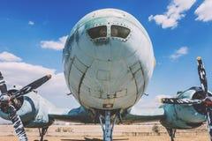 Bardzo Duży Stary samolot Z śmigłami Obraz Royalty Free