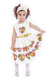 Bardzo elegancka mała dziewczynka w pięknym bielu Fotografia Royalty Free