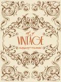 Bardzo eleganckie rocznika rysunku wektoru ramy dla dekoraci, zaproszenia, szablonów i inny, 10 eps ilustracja wektor