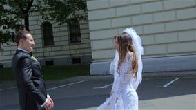 Bardzo Piękna ślub para zdjęcie wideo