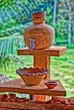Bardzo piękny miejsce dla myć ręki w natura stylu Zdjęcia Royalty Free