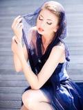 Bardzo piękny wzorcowy target694_0_ makijaż fotografia royalty free