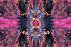 Bardzo pstrobarwna i jaskrawa abstrakcja Zdjęcie Stock