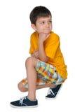 Bardzo rozważna chłopiec obrazy royalty free