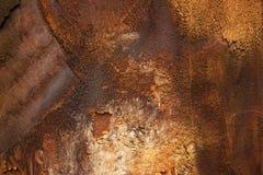 Bardzo stara ośniedziała żelazna tekstura obraz royalty free
