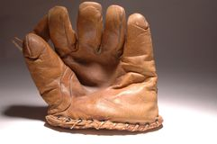 bardzo stara rękawica baseballowa obrazy stock