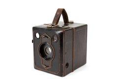 Bardzo stara rocznik kamera na białym tle Zdjęcie Stock