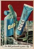 Bardzo stara rocznik reklama dla Odol zębu cleaning w Niemcy obrazy stock
