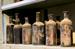 Bardzo stare butelki Obrazy Stock