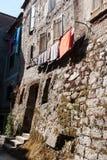 Bardzo stary dom budujący kamienni bloki Obrazy Royalty Free