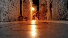 Bardzo stary footpath z duchem zdjęcia royalty free