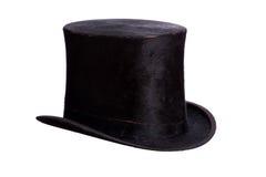 Bardzo stary kapelusz na bielu Obraz Stock