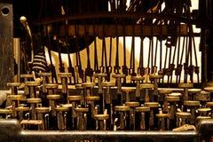 Bardzo stary maszyna do pisania, close-up fotografia royalty free
