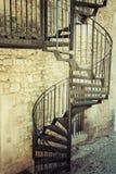 Bardzo stary plenerowy ślimakowaty schody Obraz Stock
