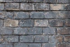 Bardzo stary popielaty ściana z cegieł jako tło lub tapeta Ceglana tekstura i wzór Obrazy Stock