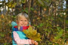 Bardzo Szczęśliwa mała dziewczynka outdoors Fotografia Royalty Free