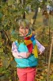 Bardzo Szczęśliwa mała dziewczynka outdoors Obrazy Stock