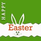 Bardzo Szczęśliwa wielkanoc - Wielkanocnego królika ucho Obrazy Royalty Free