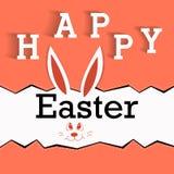 Bardzo Szczęśliwa wielkanoc - Wielkanocnego królika ucho Obraz Stock