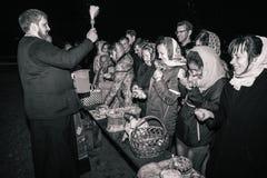 Bardzo szczęśliwi wierzący Dobrush, Białoruś obrazy stock