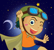 Bardzo szczęśliwy dziecko ilustracja wektor