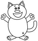 Bardzo szczęśliwy kot dla barwić Obraz Stock