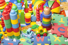 Bardzo wiele zabawki Fotografia Royalty Free