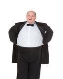 Bardzo z nadwagą rozochocony biznesmen obrazy royalty free