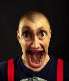 Bardzo zdziwiony krzyczący mężczyzna Obrazy Stock