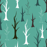 Bare autumn trees seamless pattern Royalty Free Stock Photography