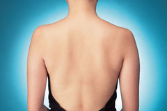 Bare back. A shot of a woman's bare back Royalty Free Stock Photos