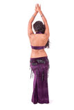 Bare back of beautiful bellydancer Stock Photography