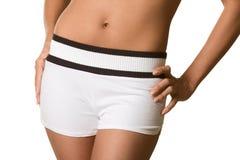 bare belly hips shorts torso white woman Στοκ φωτογραφία με δικαίωμα ελεύθερης χρήσης