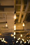Bare Bulb Ceiling Lights Royalty Free Stock Image